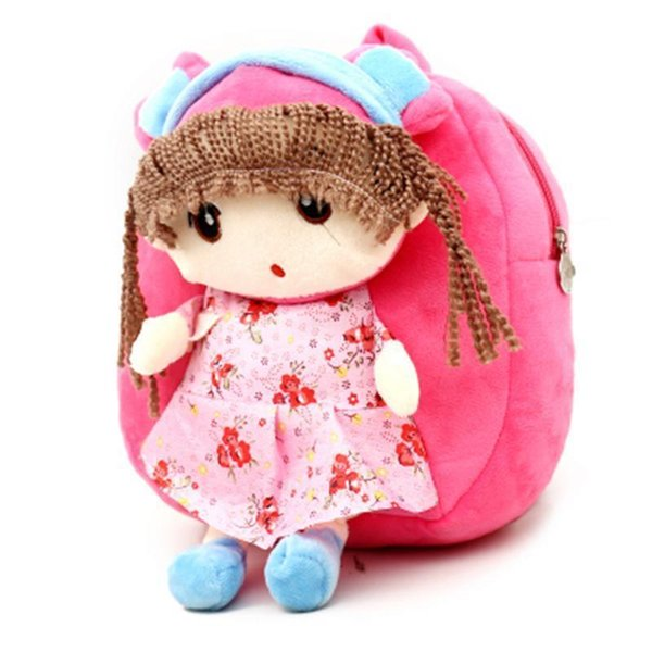 Lovely Princess Plush Schoolbag Backpack Bag Plush Toys Storage Organizer Cute School Bags For Girls Kid Children Bag Schoolbags