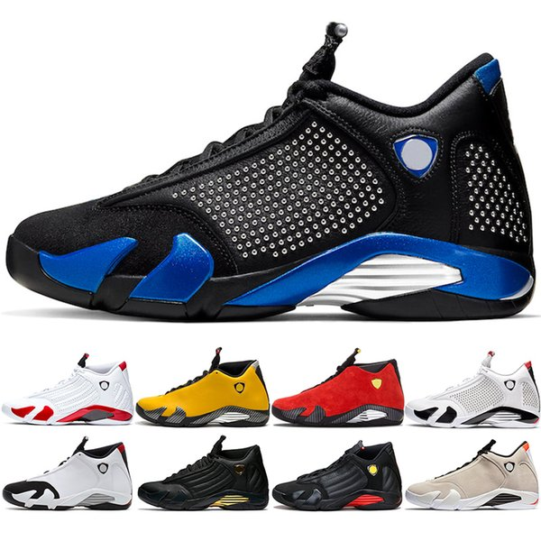 New 14 14s Men Basketball Shoes Yellow Candy Cane Red Black White Mens Trainer Sports Athletic Sneakers Size 41-47 Wholesale