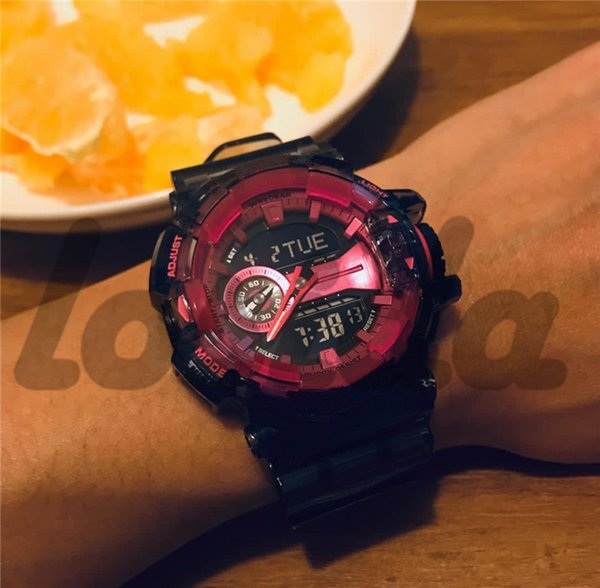 Shock Watch New Arrive Ga400 Transparent Strap With All Pointers Work Men's Sports Watches Military Army Male Wristwatches Factory Wholesale