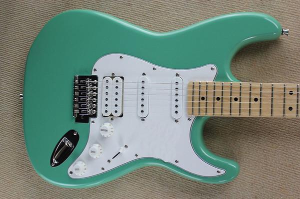 Kostenloser Versand Fabrik Custom Shop stratocaster Light green F ST E-Gitarre