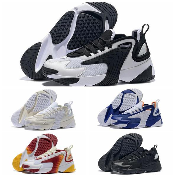 2019 M2k Tekno Zoom 2 K erkek Basketbol Ayakkabıları 2000 Üçlü S Siyah Beyaz Turuncu Lacivert Renk Iyi Fiyat Tasarımcı Açık Chaussures de sepet
