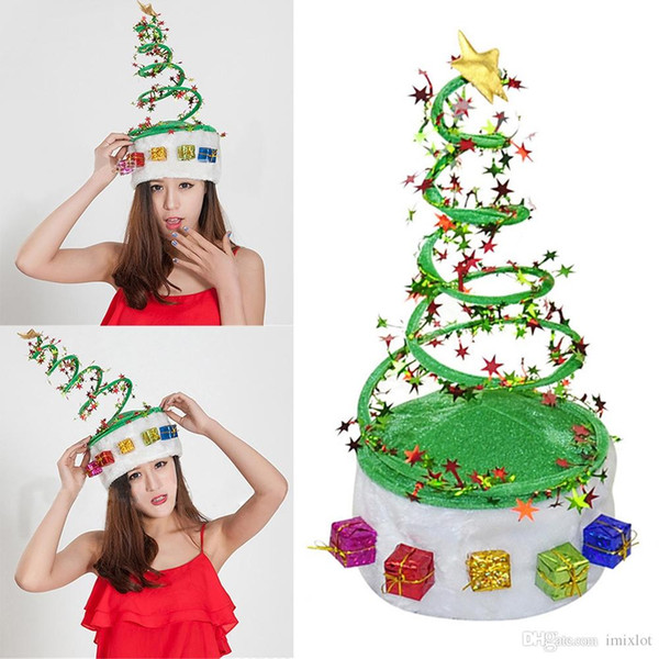 1 stück weihnachtsbaum party erwachsene kinder kinder hut cap kostüm xmas party handwerk geschenke dekoration heißer verkauf