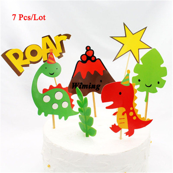 Miraculous 2020 Dinosaur Cake Topper Kids Themed Birthday Parties Gifts For Funny Birthday Cards Online Alyptdamsfinfo