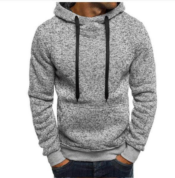 2019 hot new gym Fleece catching Hoodie Youth Trend Set Men's self-restraint clothes fashion pure color simple street