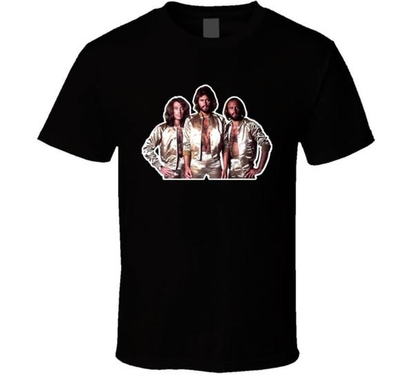 Arı Gees 70'lerin disko t shirt Marka gömlek kot Baskı