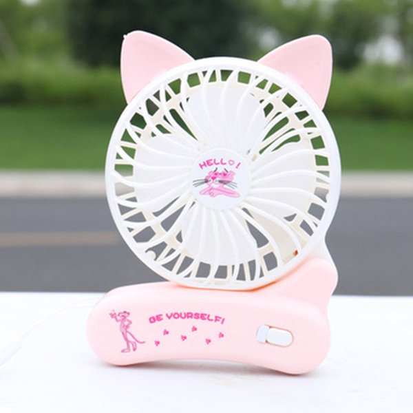Folding Usb Charging Fan Niedlichen Cartoon Tier Kreative Tragbare Mini Faltbare Handheld Charging Fan Sommer Kühler Fan Tragbare Komfortable