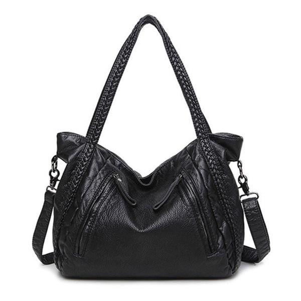 Bolso grande de cuero suave para mujeres Bolsos para mujer Bolsos bandoleras Hobos Bolsos de hombro Gran saco de asas femenino principal