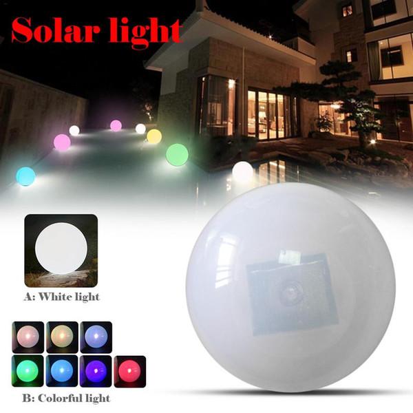 Перезаряжаемый светодиодный Болл Night Light Globe Солнечный свет Глобальный Открытый Водонепроницаемый Красочные RGB Плавающий бассейн Бар Настольная лампа
