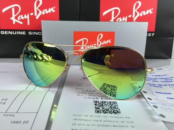 marchio di lusso AviatorBanda di protezione UV400 Occhiali da sole Ray Ban Pilot Vintage Marca vieta gli occhiali delle donne degli uomini donne degli uomini con scatola