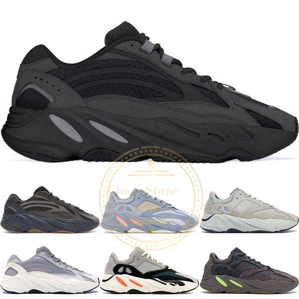 2019 700 V2 Vanta Koşucu Kanye West Geode Statik Leylak Leylak Dalga Erkek Kadın Atletik Atalet OG Katı Gri Koşu Ayakkabıları Spor Sneakers 36-46