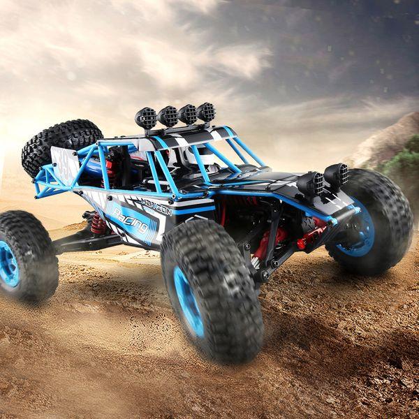 Vendita all'ingrosso Q39 HIGHLANDER 1:12 4WD RC Desert Truck RTR 35 km / H + Fast Speed / 1 kg High-Torque Servo / 7.4 V 1500 mAh LiPo RC Car Toys