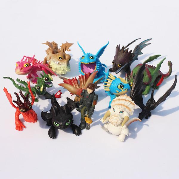 1set 13pcs /Set 5 ~7cm How To Train Your Dragon 2 Night Fury Toothless Dragon Pvc Action Figures Toothless Dragon Train Toy