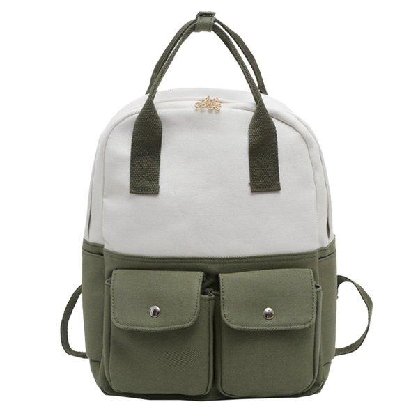 Travel Rucksack School Bags For Teenage Girls Multifunctional Backpack Canvas College Student School Backpack Hit Color