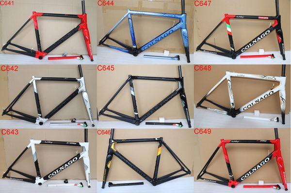 2019 neueste Colnago C64 Carbon Rennrad Rahmen Vollcarbon Fahrradrahmen T1100 UD Carbon Rennrad Rahmengröße 48cm 50cm 52cm 54cm 56cm