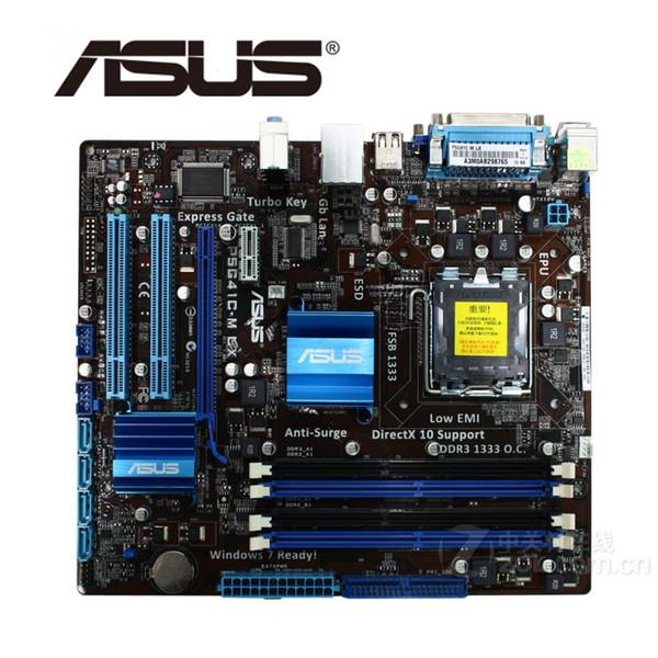 LGA 775 Материнская плата ASUS P5G41C-M LX 1066 МГц DDR2 DDR3 8 ГБ Для системной платы Intel G41 P5G41CM LX для настольных ПК Системная плата SATA II используется