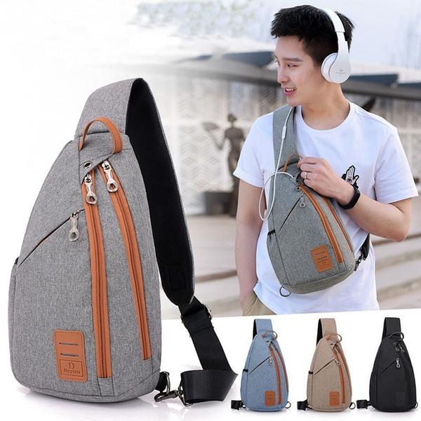 Men Backpack Chest Pack Casual Sling One Shoulder Bagpack Multifunction Crossbody Bag Travel Back Pack Mochila Masculina Bolsas
