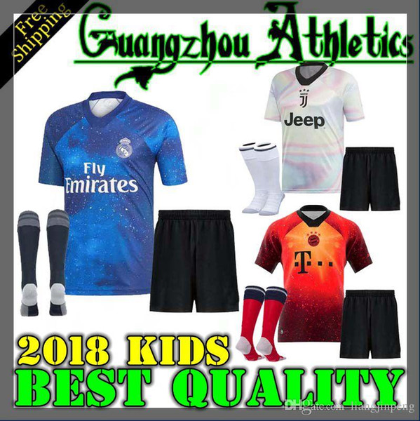 watch 530d2 8ef07 EA Sports Kids Kit Digital INSANE Bayern Munich Man United JUVENTUS REAL  MADRID Child SOCCER JERSEYS SHIRT TRAINING RONALDO SPECIAL SHIRTS UK 2019  ...