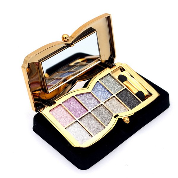 10 colors eye shadow palette Shimmer Eyeshadow Palette Waterproof Natural White Purple Diamond Glitter Eye Shadow Makeup Eyes