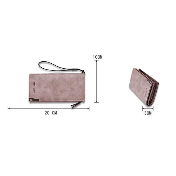 Women PU Leather Long Wallet Money Cards Holder Bag Magic Zipper Coin Purse KA-BEST