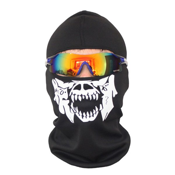 Neck Warm Halloween Scary Ski Mask Motorcycle Bike Windproof Mask Full Face Skeleton Cosplay Cycling Snowboard Balaclava