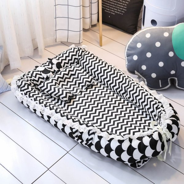 8b50339ddd Baby Bassinet for Bed Portable Baby Lounger for Newborn Crib Breathable and  Sleep Nest with Pillow