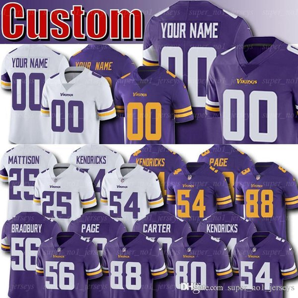 super popular 26b98 6b74e 2019 Minnesota Custom Vikings Jerseys 56 Garret Bradbury Jersey 25  Alexander Mattison Jerseys Eric Kendricks Johnson Zylstra Bailey Marshall  From ...