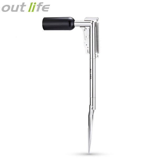 Outlife Automatic Fishing Rod Holder Stainless Steel Fish Bracket with High Strength Spring Terminal Tackle accessories