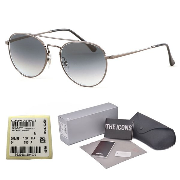 New Arrial sunglasses women men Brand designer Round Metal frame glass lenses Retro Vintage sun glasses Goggle with Retail box and label