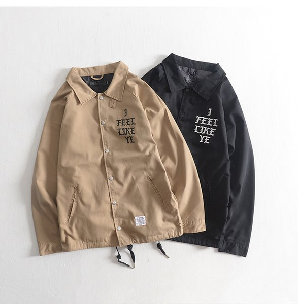 Trendy monogrammed blazers with loose sleeves for young men a casual, solid-colored, long-sleeved, thin top mens coat baseball jacket kanye