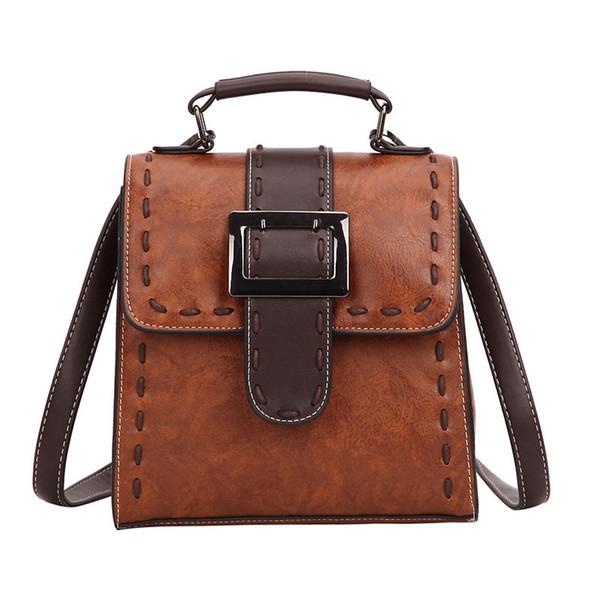 sac à dos vintage femmes pu cuir solide petit sac à dos sac à bandoulière en cuir femme Sac à dos dames brun sac de haute qualité