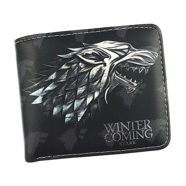 Spedizione gratuita Game Of Thrones Wallet House Stark / casa Targaryen / house Lannister Nine Style Short Purse con porta monete Coin