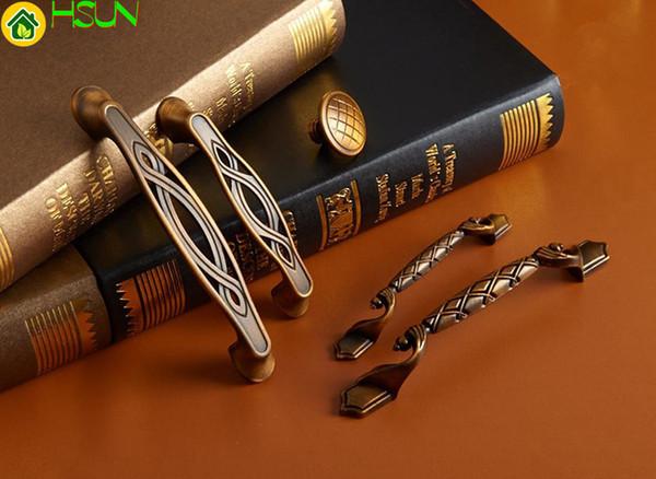 Antique Brass Dresser Handles Knobs Drawer Pulls Handles Rustic Kitchen Cabinet Hardware Handle Pull Knobs 96mm 128mm