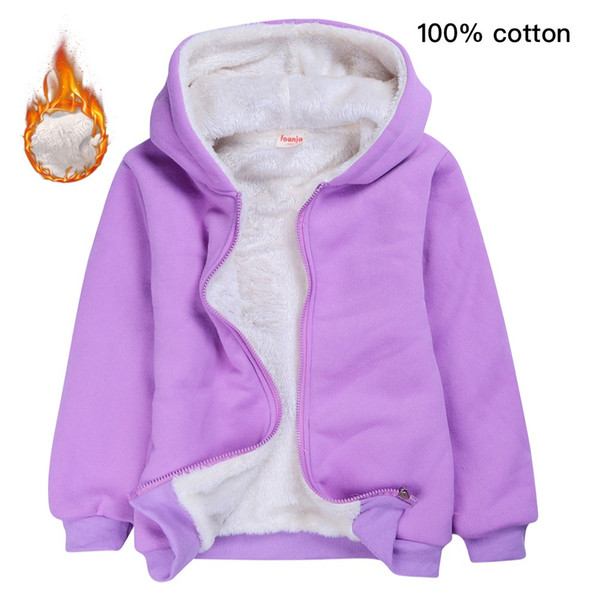 High Quality kids designer winter coats girls plain color thick Slim fur collar Hoodies fashion cotton jacket Boys hooded jackets outwear