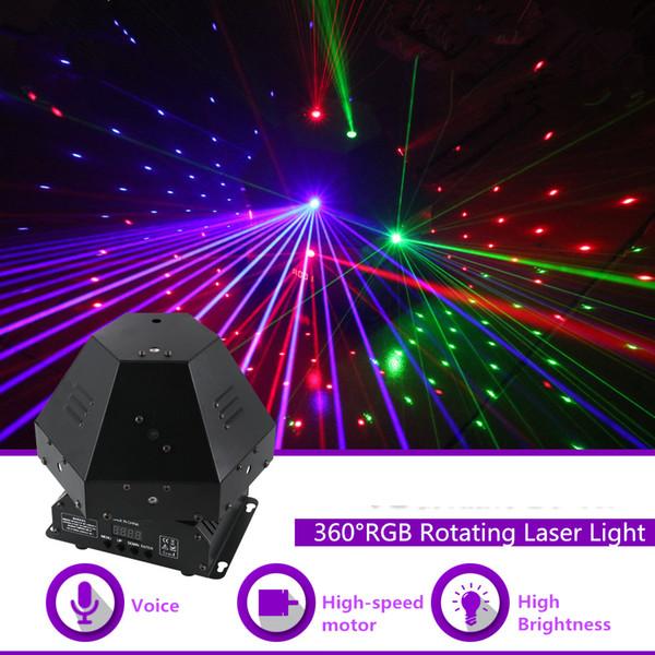 360 Градусов 11 Объектива RGB Вращающийся Лазерный Переместить Луч Гобо Light DMX Профессиональный Бар Вечеринка Gig Disco Show DJ Сценическое Освещение 360R
