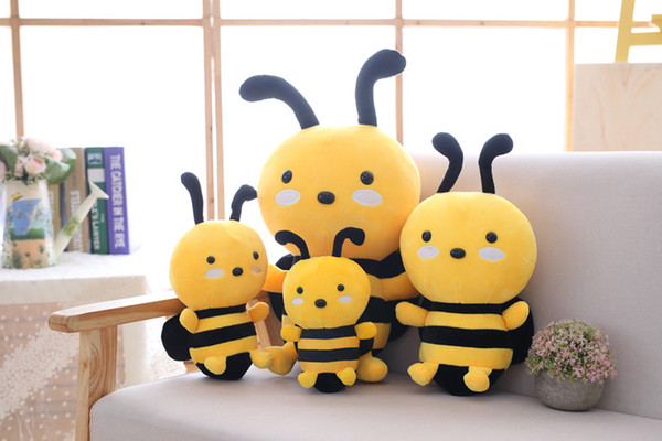 top popular Hot children's plush toys birthday dolls cute little bee dolls holiday activities gifts wedding gifts girls pillows 2019