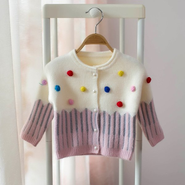 Baby Girls Cardigan Kids Girl Sweaters Cartoon Cute Sweater 2019 New Autumn Winter Infant Children Outfits Clothing S253