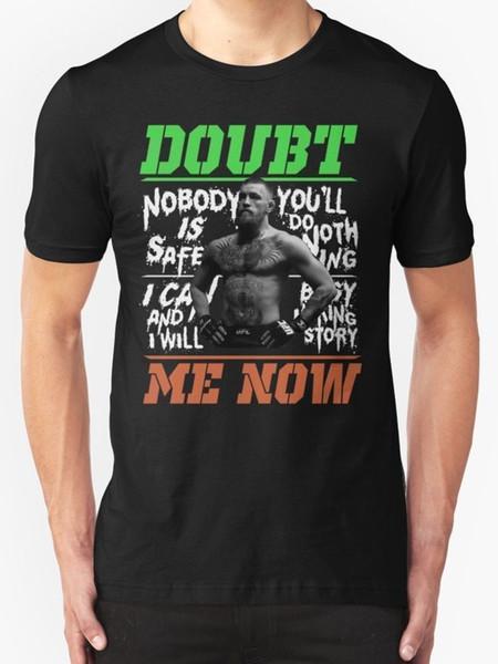 New Conor McGregor Dúvida Me Now T-shirt dos homens tamanho S-2XL