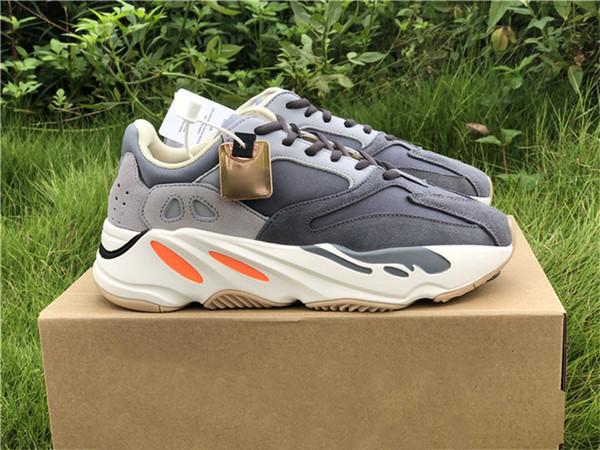 2019 Kanye West 700 FV9922 Wave Runner Originais Autênticos Originais Homens Mulheres Tênis de corrida Esportes Ao Ar Livre Tênis Atacado Com Caixa