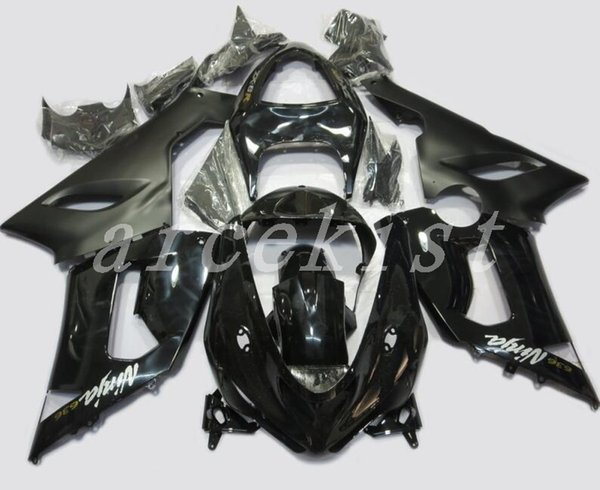 3Gifts New ABS motorcycle Fairings Kit Fit For Kawasaki Ninja 636 ZX-6R ZX6R 05 06 2005 2006 600cc ABS Bodywork set black matte glossy