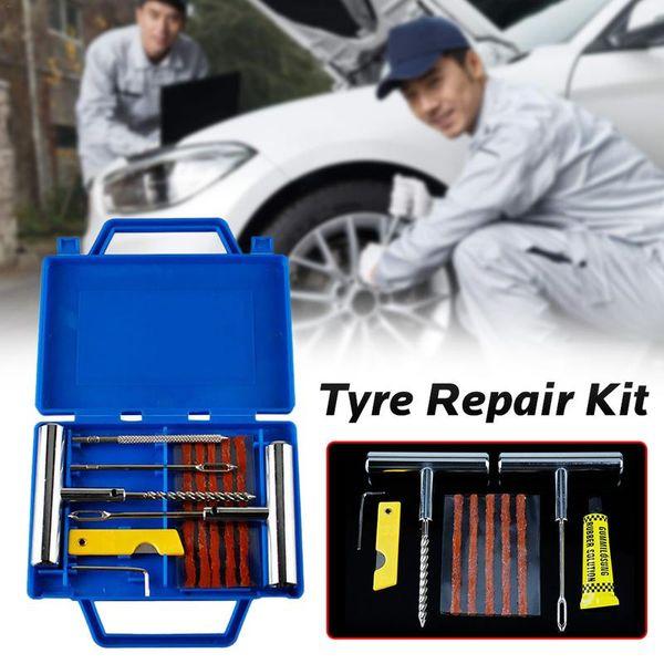 Kit di riparazione professionale per kit di riparazione pneumatici per pneumatici tubeless di emergenza per veicoli pesanti per bici da 11 pezzi
