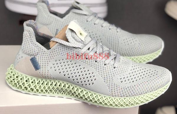 FutureCraft 4D Print Running Shoes Aero Green Rainbow Grey Men and Women Consortium Runner INV 4D Mens Designer Sports Trainer Sneakers