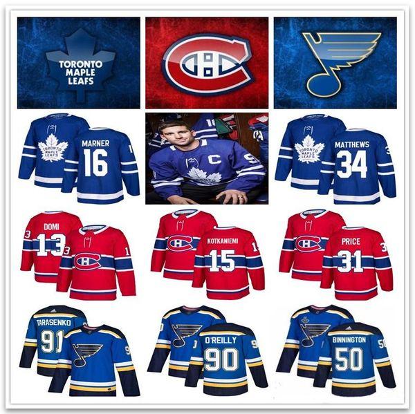 2019 toronto maple leaf hockey jer ey montreal canadien 13 max domi 31 price t loui blue jer ey 91 tara enko 90 o 039 reilly 88 nyl, Black;red
