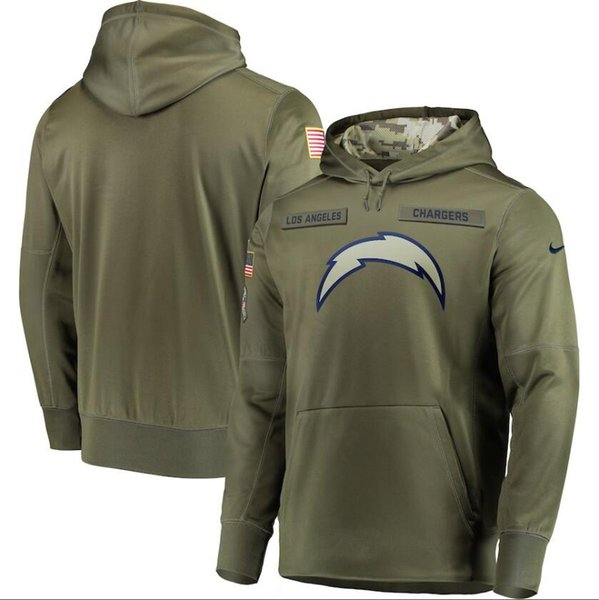 brand new 6c9a0 2ef61 2019 Men Los A Sweatshirt Chargers Salute To Service Sideline Therma  Performance Pullover Hoodie Olive Online Shirts Business Shirts From  Bestjersey4, ...