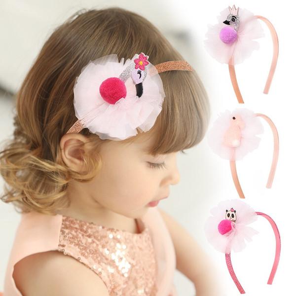 pequeño conejo de dibujos animados oso lindo cisne niños del aro del pelo del boutique del bebé de la princesa Headwear Hairbands Accesorios pelo de las muchachas niños de las vendas