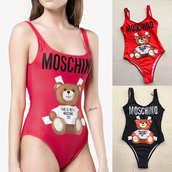 MOSC Petit Ours De Mode Maillots De Bain Bikini pour Femmes Lettre Marque Maillot De Bain Bandage Bi Quinis Sexy Maillot De Bain Marque maillots de bain