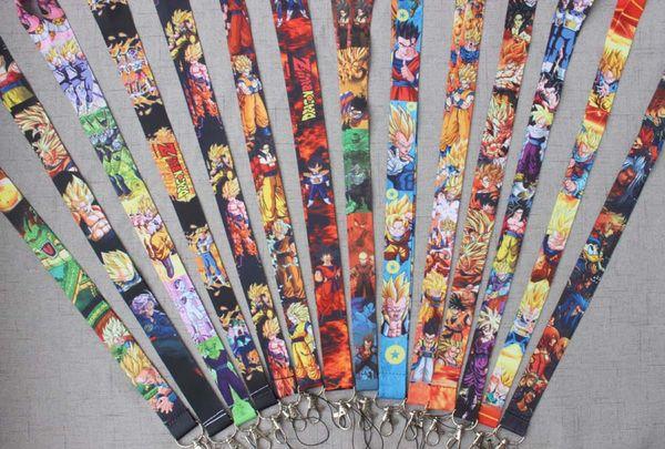 Karışık Karikatür Anime EJDERHA TOPU Z Süper Saiyan Süper Saiyan Goku Gohan Vegeta Oyuncak ANAHTAR KIMLIK kartı Boyun İpi sapanlar Ücretsiz Shiip
