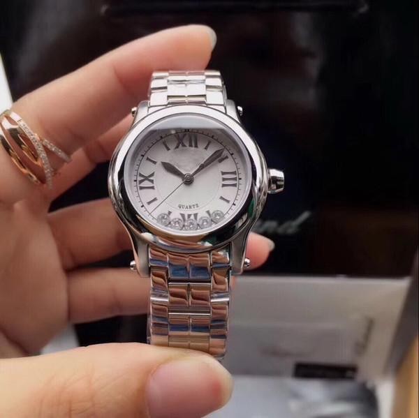 2019 30MM FALL SILBER GÜRTEL CHINA GESCHENK diamant LADY QUARTZ luxus sport großhandel damenuhr und neue edelstahl Damenuhren