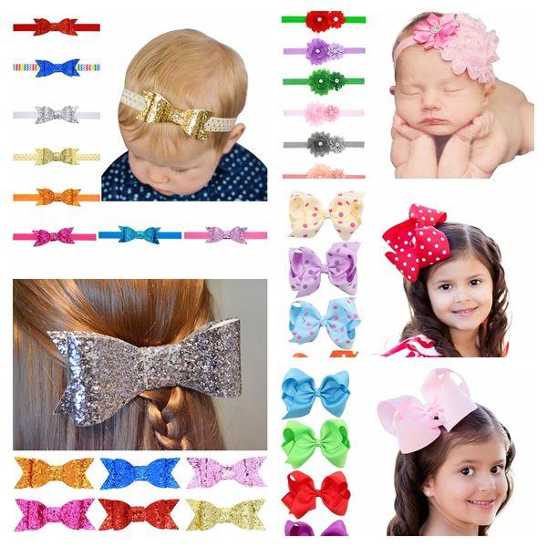 Bebek Şeker Renk Yay Tokalarım Kız Saç Ilmek Çocuk Şapkalar Çocuk Firkete Kızlar Saç Klipler Bebek Saç Aksesuarları TTA738