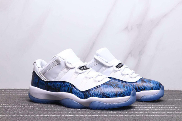 11 Low Pink Navy Blue Snakeskin Man Women Basketball Shoes 11s White Mens Ladies Sports Trainer With Box ''';/