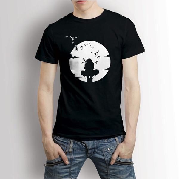 Itachi Preto T-shirt T dos homens